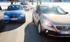 TV: Volvo V40 CC mot BMW M135i och Mini JCW Countryman