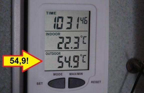 Solfångare av ölburkar: Varmt i februari!
