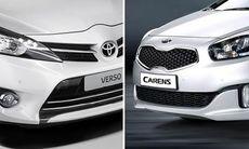 Familjefight: Toyota Verso mot Kia Carens