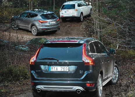 TEST: Hyundai Santa Fe, Mitsubishi Outlander & Volvo XC60
