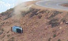 Mitsubishi Evo 8 kraschar våldsamt vid Pikes Peak