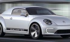 VW E-Bugster visar en elektrisk Beetle Cabriolet
