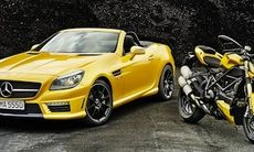 Mercedes SLK 55 AMG Ducati Edition – intensivt gul