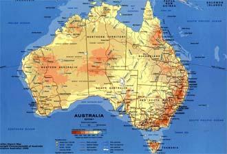 Australien Karta Lander.Efter 400 Ar Finns Australien I Bilnavigatorn Auto Motor Sport