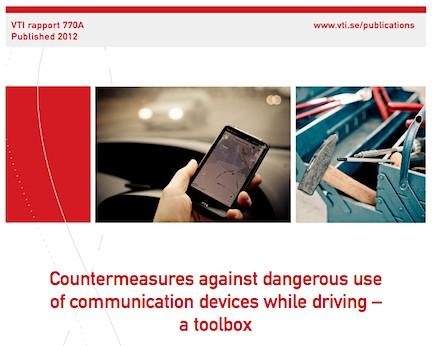 """""""Åtgärder mot trafikfarlig användning av kommunikationsutrustning under körning"""""""