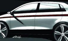 Audi A2 – första skissen på nya bilen
