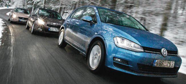 TEST: Nya Golf mot Volvo V40 och Kia Cee'd