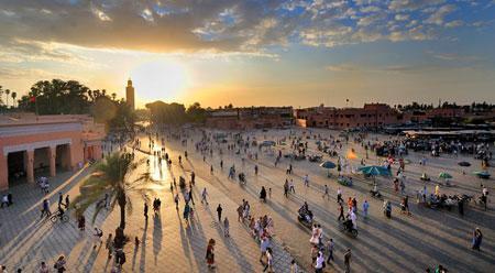 Marocko ett fargsprakande skadespel
