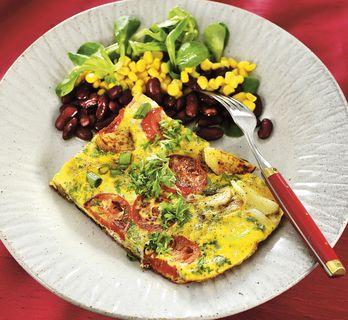 Omelett ugnsbakad med lax