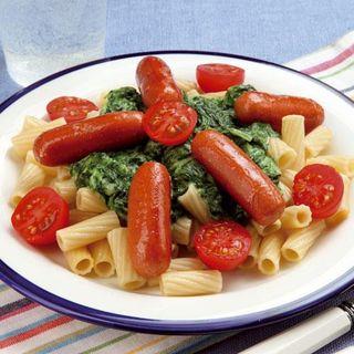 Snabb spenatsas till spagettin