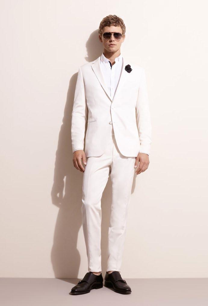 Kostym herr vit