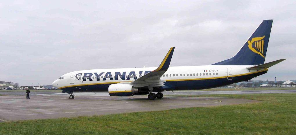 Ryanairplan kolliderade