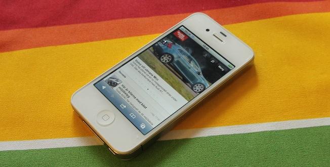 Mobilsajten når du genom att helt enkelt gå in på automotorsport.se i din smartphone.