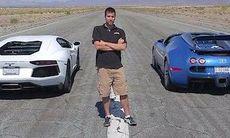 Dragrace: Veyron mot Aventador, Lexus LFA och McLaren