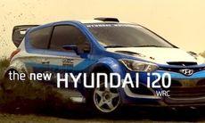 Hyundai i20 WRC sprätter grus
