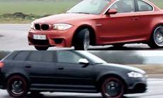 TV: Huldt testar BMW 1 M mot Audi RS3