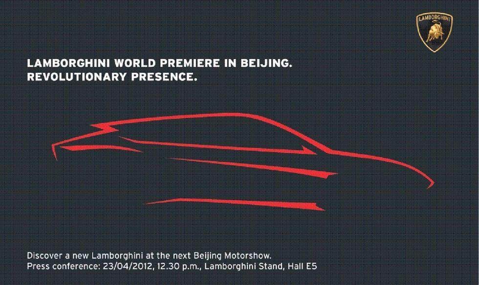 Lamborghini visar upp den nya suven, som förmodligen får heta Urus, på bilsalongen i Beijing. Instegspriset förväntas hamna på 1,5 miljoner kronor. Klicka för att se en större version!