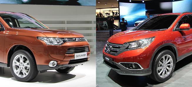 Både Mitsubishi och Honda lanserar konkurrenter till Hyundai Santa Fe under året.