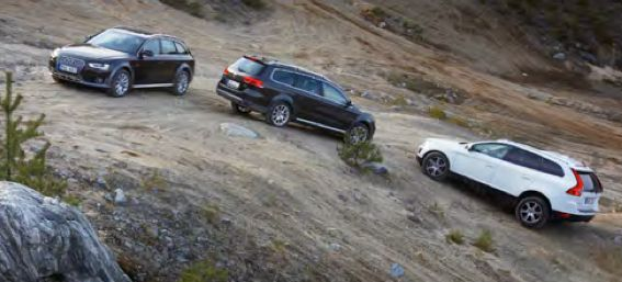 TEST: VW Passat Alltrack, Audi A4 Allroad och Volvo XC60