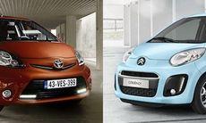 Toyota Aygo och Citroën C1 blir snyggare och snålare
