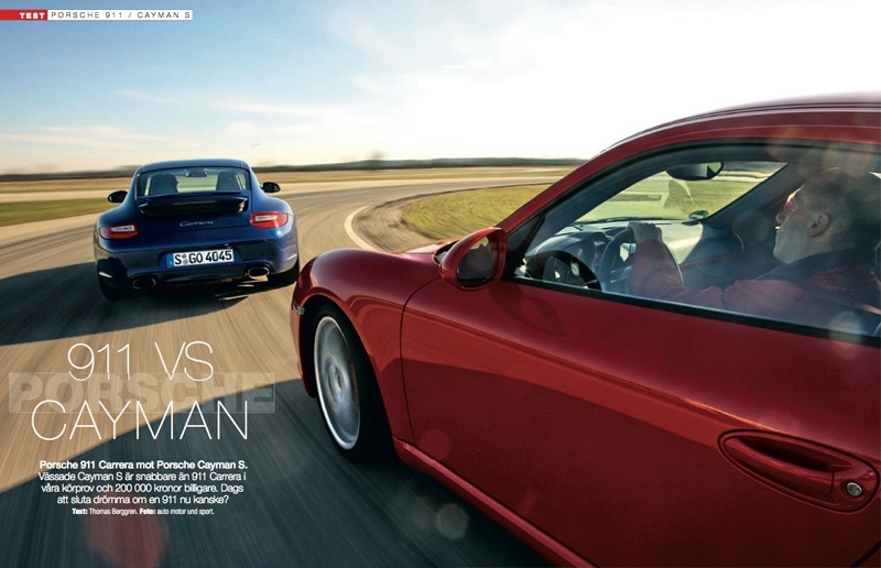 porsche 911 vs cayman biltester auto motor sport. Black Bedroom Furniture Sets. Home Design Ideas
