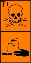 giftigt frätande