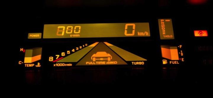 Digital instrumentering börjar i dag bli vanligt på bilar. Mr Jim var väldigt tidigt ute.