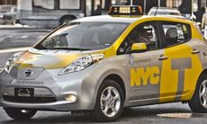 Nissan Leaf blir taxibil i New York